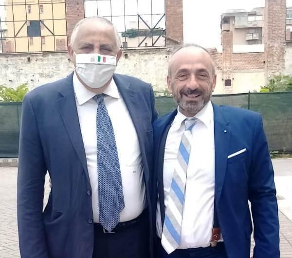 da destra, Roberto Lagalla con Paolo Battaglia La Terra Borgese